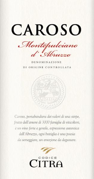 Caroso Montepulciano d'Abruzzo Riserva DOC 2015 - Citra Vini von Codice Citra