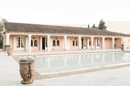Das Pavillon auf dem Gelände des Châteaus