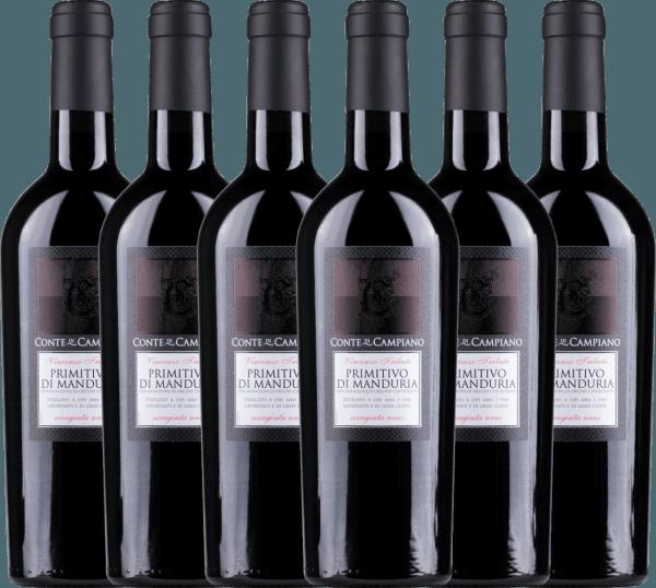 6er Vorteils-Weinpaket Primitivo di Manduria DOC 2020 - Conte di Campiano