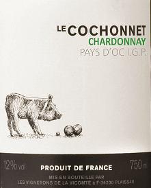 Le Cochonnet Chardonnay 1,0 l 2019 - Vignerons de la Vicomté von Vignerons de la Vicomté