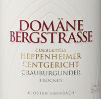 Vorschau: Heppenheimer Centgericht Grauburgunder Crescentia 2019 - Domäne Bergstraße - Kloster Eberbach
