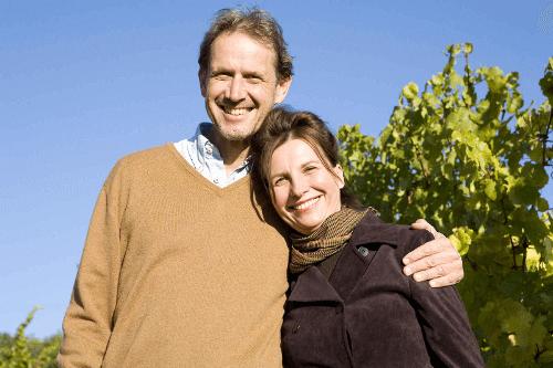 Winzer Willi Bründlmayer mit seiner Frau Edwige