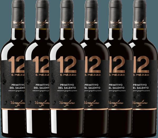 6er Vorteils-Weinpaket - 12 e Mezzo Primitivo 2019 - Varvaglione