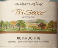 Vorschau: PriSecco rotfruchtig - Manufaktur Jörg Geiger