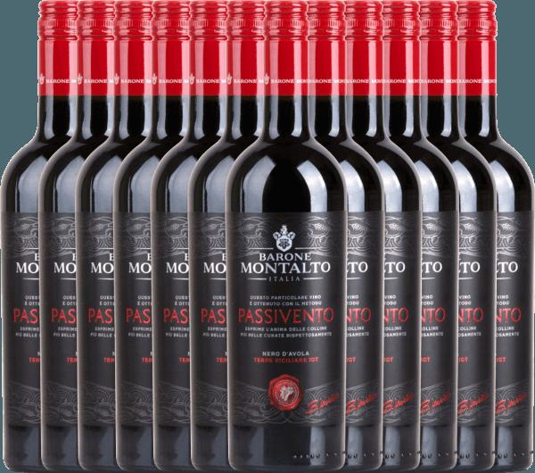 12er Vorteils-Weinpaket Passivento Rosso Terre Siciliane 2019 - Barone Montalto