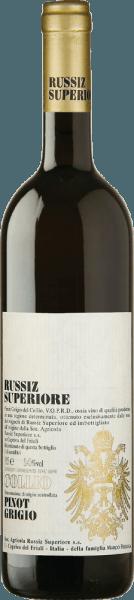 Dieser sortenreine Pinot Grigio aus dem Hause Russiz Superiore wird im DOC Collio Gebiet produziert. Komplexität erreicht er zusätzlich durch die Fermentierung eines Teils der Trauben in Eichenfässern. Dieser lebendige italienischer Weiwein verwöhnt mit einem Bouquet von Birnen und reifen Äpfeln sowie einer Nuance Ginster. Dieser Pinot Grigio von Russiz Superiore zeichnet sich durch sein wohl integriertes Säurespiel, den köstlich nachhaltigen Abgang und seine delikaten Fruchtaromen aus. Speiseempfehlung zum Pinot Grigio Collio von Russiz Superiore Dieser Pinot Grigio ist ein delikater Allrounder für die mediterane Küche mit hellem Fleisch, oder für ein gehobenes Buffet oder Party. Auszeichnungen für denPinot Grigio Collio von Russiz Superiore Wine Spectator: 88 Punkte für 2014 Wine Enthusiast: 91 Punkte für 2012 Gambero Rosso: 3 Gläser für 2011