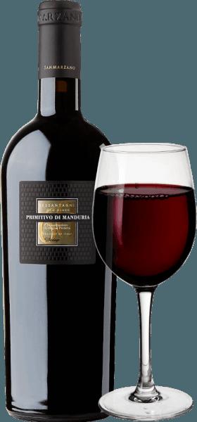 """Der Sessantanni Primitivo di Manduria der Cantine San Marzanoist einer der ganz großen Rotweine Apuliens. Sessantanni Primitivo, der rassige italienische Rotwein, wird aus den Trauben über 60 Jahre alter Reben vinifiziert und begeistert mit opulenter Frucht und herrlich würzigen Nuancen nach Zimt, Zedernholz und Vanille. Der Sessantanni Primitivo di Manduria der Cantine San Marzano ist ein unvergesslich intensiver Rotwein aus Italien, der mit vollem Körper begeistert. Tiefrot im Glas, beeindruckt dieser Rotwein mit einem vielschichtigen Bouquet voller Trockenpflaumen, Kirschkompott, hellem Tabak, etwas Anis und reifen Waldbeeren. Vinifikation des Sessantanni Das handgelesene Lesegut für diesen edlen Rotwein stammt von 60 Jahre alten Stöcken, die in kargen, eisenoxidreichen Böden wurzeln. So erklärt sich auch der Name, denn Sessantanni steht für """"von Sechzigjährigen"""". Die Folge ist unter anderem ein viel geringerer Ertrag, denn diese knorrigen alten Reben bringen im Jahr nur etwa 3000 kg pro Hektar an Trauben hervor. Dieser, auf natürliche Weise reduzierte Ertrag, ermöglicht zugleich eine besonders hohe Qualität der einzelnen Trauben. Der Scirocco, der aus Nordafrika weht, prägt das Klima Weinberge der Cantine San Marzano im Süden Italiens deutlich. Er bringt trockene Luft mit sich, die es Pilzen, Insekten und Fäule schwer macht, den Reben zuzusetzen, was fast schon eine Bewirtschaftung nach biologischen Maßstäben möglich macht. 80% des Mostes wird temperaturkontrolliert für 18 Tage auf der Maische belassen. Die restlichen 20% für 25 Tage. Dies führt zu einer optimalen Extraktion. Die Hefen sind weingutseigen. Nachdem der Sessantanni abgezogen wurde, wird er für 12 Monate inHolzfässern aus französischer und amerikanischer Eiche ausgebaut. Verkostungsnotiz/Degustation des Sessantanni DerSessantanni Primitivo di Manduria der Cantine San Marzanoist ein reinsortiger Primitivo, der mit tiefem Rubinrot im Glas erscheint. In der Nase offenbaren sich Aromen von Dörrpflaumen """