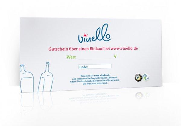 100 € VINELLO Geschenkgutschein im Umschlag, 300g Karton DIN A5 lang von VINELLO