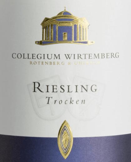 Riesling trocken 1,0 l 2018 - Collegium Wirtemberg von Collegium Wirtemberg