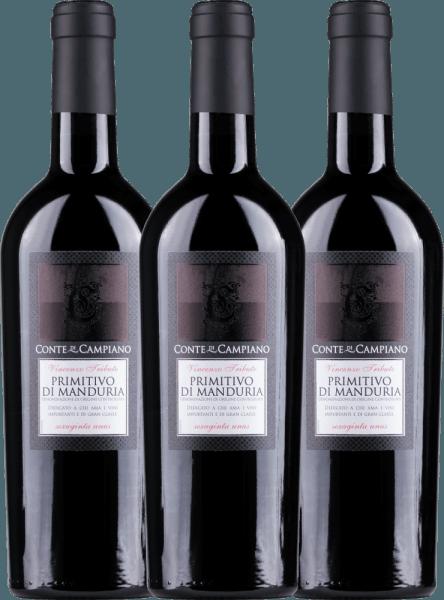 3er Vorteils-Weinpaket Primitivo di Manduria DOC 2020 - Conte di Campiano