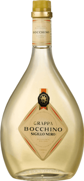 Dieser traditionelle Grappa der historischen Distilleria Bocchino in Canelli im Piemont, wird aus ausgewählten Trestern der Rebsorten Barbera d'Asti, Dolcetto del Monferrato und Nebbiolo aus der Region gewonnen. Der Grappa Sigillo Nero erhält durch den Ausbau in großen Holzfässern seine typische helle Bernsteinfarbe, sein feines Aroma und seinen reinen, trockenen und duftigen Geschmack.