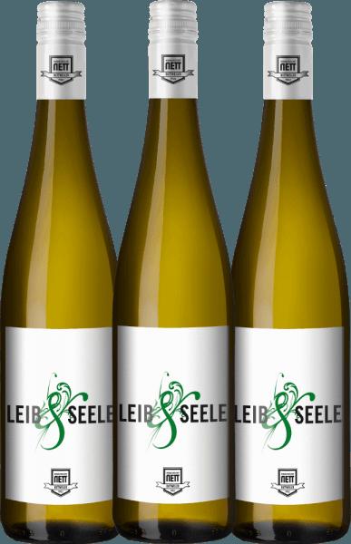 3er Vorteils-Weinpaket - Leib & Seele Cuvée feinherb 2019 - Bergdolt-Reif & Nett