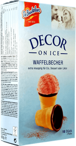 Waffelbecher Decor on Ice - DeBeukelaer