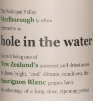Vorschau: Hole in the Water Sauvignon Blanc Etikett
