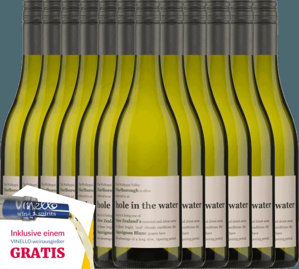 12er Vorteils-Weinpaket - Hole in the Water Sauvignon Blanc 2019 - Konrad Wines von Konrad Wines