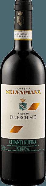 Der Chianti Rufina Bucerchiale Riserva DOCG von Selvapiana offenbart sich im Glas in einem dunklen Rot mit granatroten Reflexen und den herrlichen Aromen von Brombeeren und Heidelbeeren. Untersützt werden diese Aromen durch Noten von Kirschen mit floralen Anklängen. Dieser Sangiovese aus der Toskana ist am Gaumen intensiv und komplex mit viel Stoff. Vinifikation des Chianti Rufina Bucerchiale Riserva DOCG von Selvapiana Die Reben für diesen wein wurzeln auf Böden aus Ton und Kalkstein in der Gemeinde Rufina Vigneto Bucerchiale. Die Trauben wurden von Hand gelesen, mazeriert und alkoholisch und malolaktisch fermentiert. Der Ausbau fand in Fässern aus französischer Eiche statt. Speiseempfehlung für den Chianti Rufina Bucerchiale Riserva DOCG von Selvapiana Genießen Sie diesen trockenen Rotwein zu kräftigen Gerichten von Schwein und Rind, gegrilltem Fleisch, Lamm und Wild oder zu kräftigem Käse. Auszeichnungen für den Chianti Rufina Bucerchiale Riserva DOCG von Selvapiana Vinous - Antonio Galloni: 92 Punkte (Jahrgang 2012) Jancis Robinson: 16,5+ Punkte (Jahrgang 2012) Gambero Rosso: 2,5 Gläser (Jahrgang 2012)