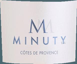Die Cuvée M Rosé von Château Minuty schimmert in einem äußerst hellen, glänzenden Lachsrosa. Ein delikates, duftiges Bouquet von süß gereiften roten Beeren (Erdbeeren, rote Johannisbeeren), Pfirsichen, kandierten Orangen und leicht kräutrigen Anklängen entsteigt dem Glas. Am Gaumen wirkt er fruchtig-frisch, elegant und rund mit einer tollen Ausgewogenheit von lebhafter Säure, feiner Beerenfrucht und einer hauchzarten Kräuter- und Gewürzaromatik. Speiseempfehlung zumCuvée M Rosé von Château Minuty Genießen Sie ihn als Aperitif oder Begleiter von Caesar oder Nizza Salat, luftgetrocknetem Schinken, kalten und warmen Vorspeisen, frischen Meeresfrüchten, Fisch- und Geflügelgerichten oder zu Schafskäse wie Pérail. Vinifikation desCuvée M Rosé von Château Minuty Die Cuvée aus 50% Grenache, 40% Cinsault und 10% Syrah wird im Edelstahltank fermentiert. Die Weine der M-Serie werden im unverfälschten Minuty-Stil erzeugt. Sie kombinieren die frische, geradlinige, natürliche Frucht mit einem intensiven Geschmack. Die Weine sind ein echter Moment der Freude und des Glücks, den man mit Freunden teilt und der Urlaubsfeeling hervorruft.