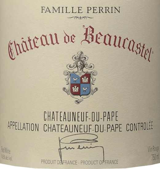 Château de Beaucastel Châteauneuf du Pape AOC 2017 - Perrin & Fils von Famille Perrin