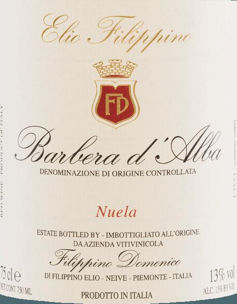 Nuela Barbera d'Alba DOC 2018 - Elio Filippino von Elio Filippino