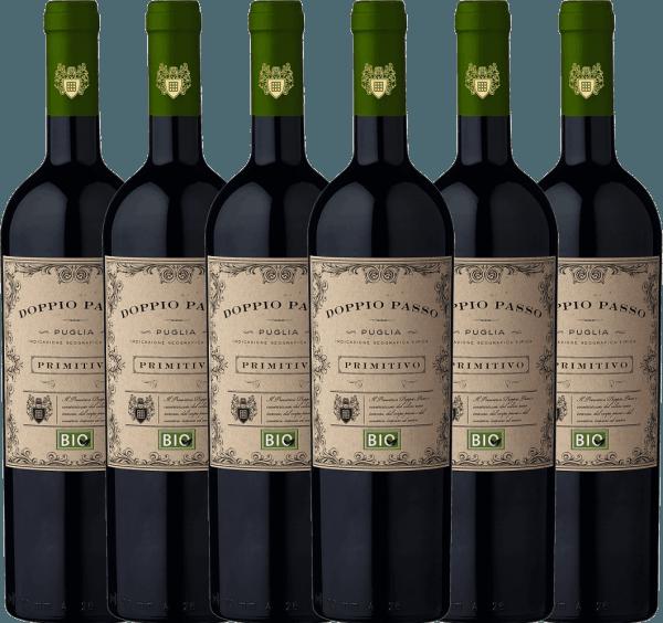 6er Vorteils-Weinpaket - Doppio Passo Bio Primitivo Puglia IGT 2020 - CVCB