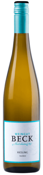 Der Riesling Gutswein vom Weingut Beck Hedesheimer Hof leuchtet im Glas in einem hellen Gelb und umschmeichelt die Nase mit den Aromen von Pfirsich mit mineralischen Noten. Dieser Weißwein aus Rheinhessen ist am Gaumen sehr komplex und vielschichtig. Speiseempfehlung für den Riesling Gutswein vom Weingut Beck Genießen Sie diesen trockenen Weißwein zu Vorspeisen und Schweinemedaillons mit Rosmarin und Oliven-Serviettenknödeln.