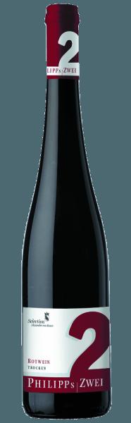Die komplex wirkende Philipp's Zwei Rotweincuvée von Phillip Kuhn überzeugt mit beeindruckender Eleganz. Der Rotwein verströmt intensive Waldfrucht-Aromen, untermalt von dezenten Schokoladen- und Kräuternoten. Eine Spur Weihnachtsgewürz rundet den Duft ab und weißer Pfeffer sorgt für einen schönen Aha-Effekt. Den nötigen Biss und eine lange Lebensdauer verleihen ihm die kraftvollen Tannine. Vinifikation/Herstellung Über knapp zwei Jahre wird diese Melange in zweijährigen Eichenholzfässern ausgebaut.Der Wein ist, wie alle Roten von Philipp Kuhn, kompromisslos durchgegoren. Nach der Handernte werden die Stiele der Rotweintrauben abgetrennt und die Trauben im Maischebehälter eingelagert. Dort erfolgt über einen Zeitraum von 10 Tagen bis 3 Wochen die Vergärung. Für eine Dauer von ca. 20 Monaten lagert er zur Reifung in zweijährigen Fässern aus französischer Eiche. Serviervorschlag/Foodpairing Die Philipp's Zwei Rotweincuvée von Phillip Kuhn ist einsehr guter Begleiter zu kräftigen Fleischgerichten. Awards/Preise vergangener Jahrgänge Eichelmann - Aufsteiger des Jahres 2010Gault Millau - Aufsteiger des Jahres 2011