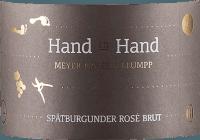 Vorschau: Hand in Hand Spätburgunder Rosé Sekt brut 2018 - Meyer-Näkel & Klumpp