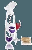 Korkenzieher Twister lila-weiß - Vacu Vin