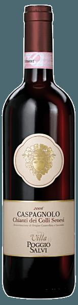 Der Caspagnolo Chianti Colli Senesi DOCGvon Villa Poggio Salvi betört durch seinefruchtigen Aromen von Johannisbeeren sowie schönen floralen Noten vonVeilchen. Der kurze Kontakt mit Fässernaus slawonischer Eiche rundet diesenRotwein wunderbar ab, verleiht ihm einsanftes Tannin und eine gute Struktur. Er ist ein idealer Begleiter zu gegrilltem Fleisch oder zu gereiften Käsesorten.
