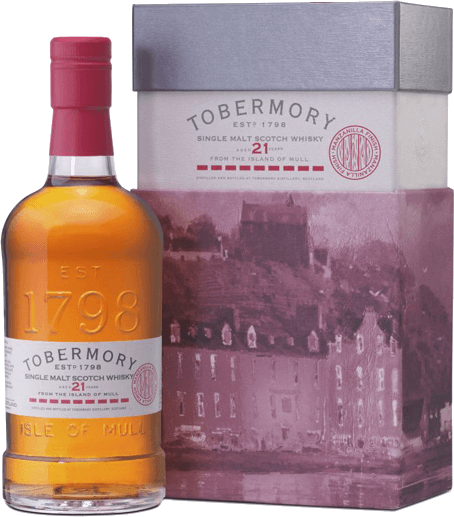 Tobermory 21 Years Single Malt Scotch Whisky in Geschenkverpackung - Tobermory