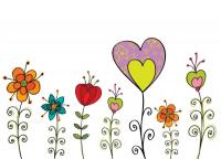 Klappkarte Blumenwiese mit Umschlag