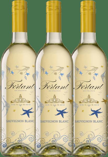 3er Vorteils-Weinpaket - Sauvignon Blanc serigrafiert 2019 - Fortant de France