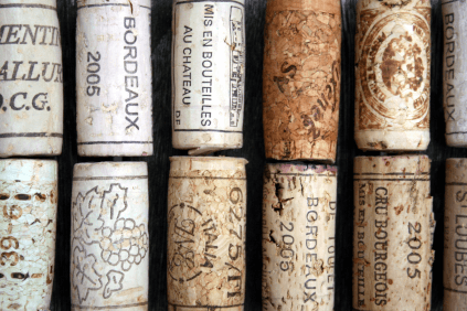 Die Korken als Sinnbild der Vielfalt des Bordeauxweins
