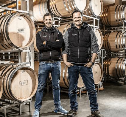 Die Brüder Markus und Andi Klumpp