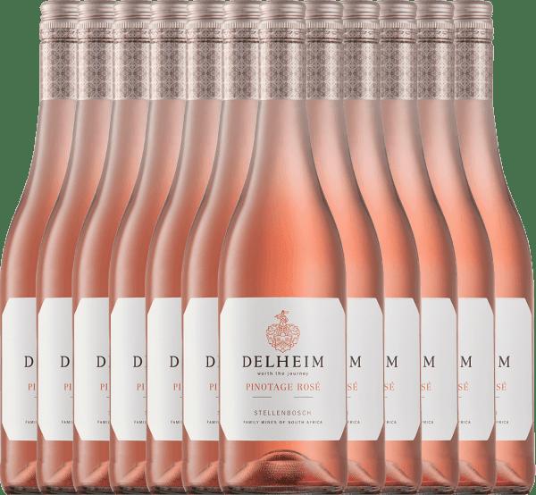 12er Vorteils-Weinpaket - Delheim Pinotage Rosé 2021 - Delheim