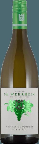 Der Buntstück Weißer Burgunder Qualitätswein trocken von Martin Wassmer zeigt eine sehr schön ausgeprägte Weißburgundernote. In der Nase ist er fein und würzig mit frischen Kräutern und knackiger Birne. Eine feingliedrige Säure ist am Gaumen spürbar sowie mineralische Noten im Abgang. Ein idealer Sommer-Spaß-Wein, der vor allem zu kräuterigen Pasta Gerichten und zu Spargel harmoniert.
