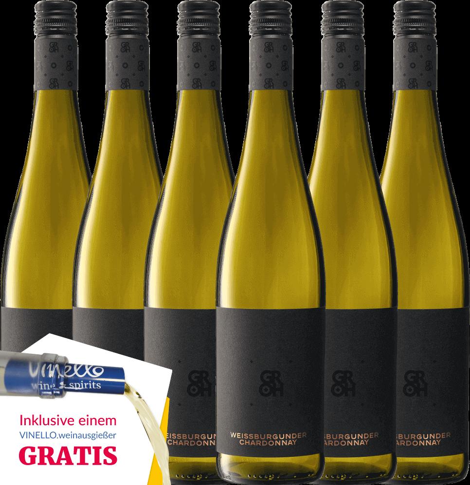 6er Paket - Grohsartig Weißburgunder Chardonnay - Groh