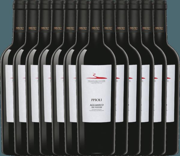 12er Vorteils-Weinpaket - Pipoli Aglianico del Vulture DOC 2019 - Vigneti del Vulture