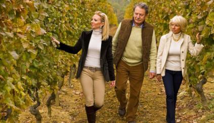 Die Familie Soldati in ihrem Weingut La Scola