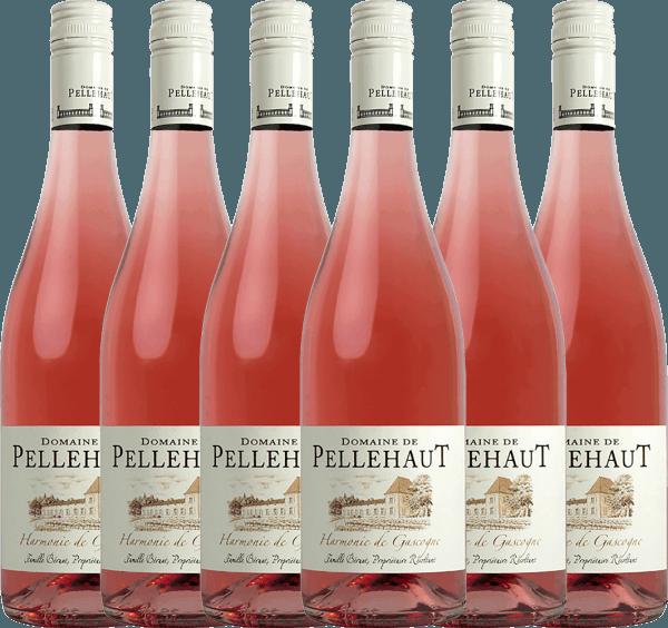6er Vorteils-Weinpaket - Harmonie de Gascogne Rosé 2020 - Domaine de Pellehaut