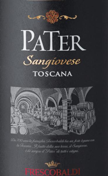 Der Pater Sangiovese di Toscana IGT von Marchesi de' Frescobaldi wird reinsortig aus Sangiovese vinifiziert. Ein kräftiges, strahlendes Rubinrot zeigt sich im Glas, an der Nase bietet er Aromen von roten Früchten wie Pflaume und Erdbeere gepaart mit Noten von Pfeffer, Zimt und Anklängen an Minze und Eukalyptus. Im Mund weich, warm und frisch. Wir empfehlen den Pater von Frescobaldi zu Spaghetti Bolognese, Gnocchi oder gegrilltem Rindfleisch.