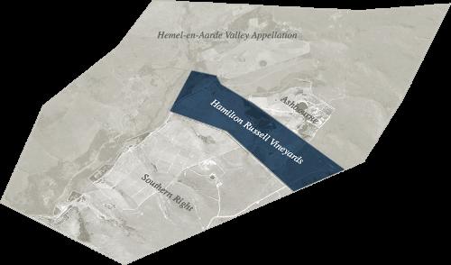 Hamilton Russells Weinlinien im Hemel en Aarde Valley