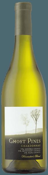 Der Chardonnay von Ghost Pines präsentiert sich im Glas in einer strohgelben Farbe. Es entfalten sich die Aromen von würzigem Bratapfel, Birnen, Zitronencreme mit einem Hauch von Vanille. Dieser kalifornische Weißwein ist am Gaumen weich und buttrig. Dieser Weißwein ist ein moderner Chardonnay. Vinifikation für den Chardonnay von Ghost Pines Dieser Chardonnay wird aus Trauben vinifiziert, die aus dem Sonoma County, Monterey County und dem Napa County stammem. So ergeben sich ausdrucksstarke und fruchtbetonte Charakteristiken, die das jweilige Terroir widerspiegeln und zu einem konzentrierten und eleganten Gesamteindruck führen. Um diesem Weißwein seine buttrige Textur zu verleihen, wurde er auf der Hefe gelagert und der malolaktischen Fermentation unterzogen. Speiseempfehlung für den Chardonnay von Ghost Pines Genießen Sie diesen trockenen Weißwein zu Hummer und Meeresfrüchtesalat, Geflügel oder cremig-nussigen Speisen. Auszeichnungen für den Chardonnay von Ghost Pines Wine Spectator: 88 Punkte für 2013 Robert M. Parker: 87 Punkte für 2013
