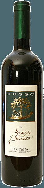Der Sasso Bucato IGTvon Russo brilliert mit einer kräftigen, samtigen und purpurroten Farbe im Weinglas. In der Nase zeigt sich seine außergewöhnliche Dichte von süßen dunklen Früchten, Kräutern und Mineralien. Der wunderschöne Duft mit den sortenreinen Akzenten der Trauben vereint sich mit der Wärme dieser toskanischen Persönlichkeit.Der weiche, elegante und vollmundige Gaumen verwöhnt mit beständigen, ausgeprägten Fruchtnoten und einer überragenden Ausdauer eher er in den langen, nachklingenden Abgang fließt.Wir empfehlen ihn zu gegrilltem Schwein und Rindersteak.
