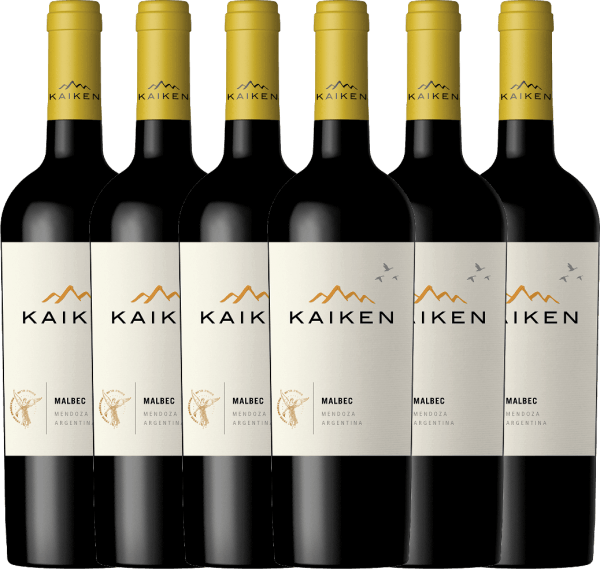 6er Vorteils-Weinpaket - Kaiken Malbec 2019 - Viña Kaiken