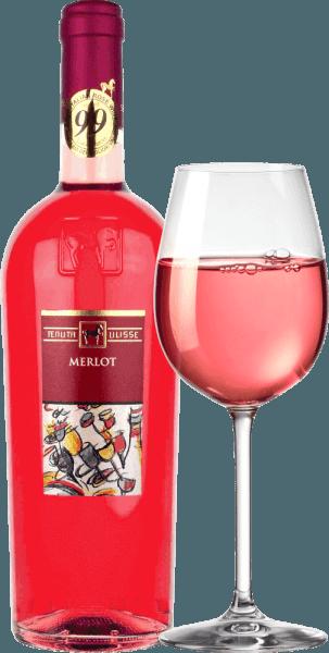 """Der Merlot Rosato von Tenuta Ulisse ist der Rosé-Bestseller des Spitzen-Weingutes in den Abruzzen. Er kommt mit kräftigen Himbeerrot ins Glas und begeistert nicht nur den Rosé-Freund, sondern jeden Weinliebhaber, der auf kraftvolle und ausdrucksstarke Weine steht. Zuerst dringen vor allem fruchtige Noten nach reifen Himbeeren, Preiselbeeren, Erdbeeren und Kirschen in die Nase. Ergänzt wird die Frucht von floralen Noten, feiner Kräuterwürze und hell-zitrischen Nuancen von Pink Grapefruit, Kumquat und Bergamotte. Blumige Noten nach Hibiskus und Buschrose runden das Bouquet fulminant ab. Am Gaumen startet der Ulisse Merlot Rosato mit einem animierenden, fruchtbetonten Auftakt. Herrlich griffig, saftig und mit vitaler Säure gleitet dieser italienische Rosé über die Zunge. Ein Fest für die Sinne. Kein Wunder also, dass Kritikerlegende Luca Maroni diesem Wein von Ulisse bereits zum 2. Mal seine Höchstbewertung zu Teil werden ließ. Vinifikation des Merlot Rosato von Tenuta Ulisse Dieser Spitzen-Rosato wurde aus 100 % Merlot-Trauben vinifiziert, die rund um Crecchio in der Abruzzen-Provinz Chieti wuchsen. Die Reben wurzeln hier in sandigen Böden und konnten bereits seit 10-20 Jahren ihre Wurzeln tief in den Untergrund graben. Der sandige Boden lässt den Reben nicht allzu viel Wasser, was Tiefe und Ausmaß der Wurzeln verstärkt und die Trauben besonders intensiv, weil nicht so verwässert, wachsen lässt. Nach der Handlese kommen die Trauben umgehend in den Keller, werden eingemaischt und für 12 Stunden kalt mazeriert. Nach dem Abpressen des Mostes erfolgt die Gärung, der sich eine dreimonatige Reifezeit im Edelstahltank anschließt. Speiseempfehlung zum Ulisse Merlot Rosato Genießen Sie diesen ausgezeichneten Roséwein aus den Abruzzen zu gegrilltem Fisch, hellen Geflügelgerichten und Meeresfrüchten. Auszeichnungen für den Ulisse Merlot Rosato Luca Maroni: 99 Punkte für 2018 -""""One of the best rosé ever"""" Luca Maroni: 99 Punkte für 2017"""