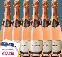 Vorschau: 6er Vorteils-Weinpaket - Crémant Brut Rosé Excellence - Bouvet Ladubay