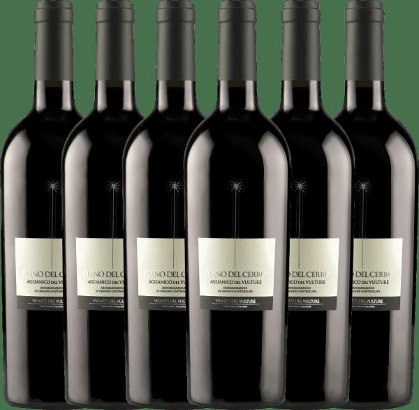 6er Vorteils-Weinpaket - Piano del Cerro Aglianico del Vulture DOC 2018 - Vigneti del Vulture