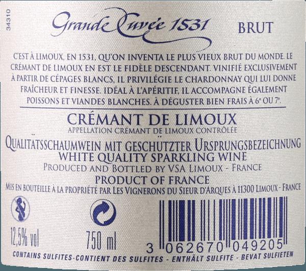 Aimery Grande Cuvée 1531 Crémant Brut - Sieur d'Arques von Sieur d'Arques