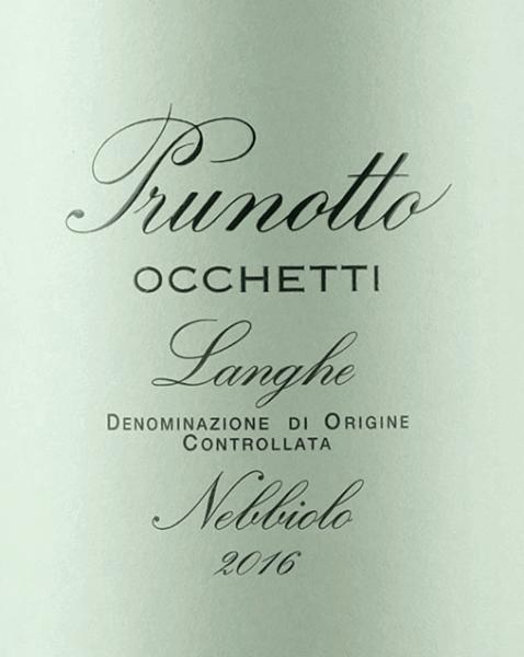 Occhetti Nebbiolo Langhe DOC 2017 - Prunotto von Prunotto